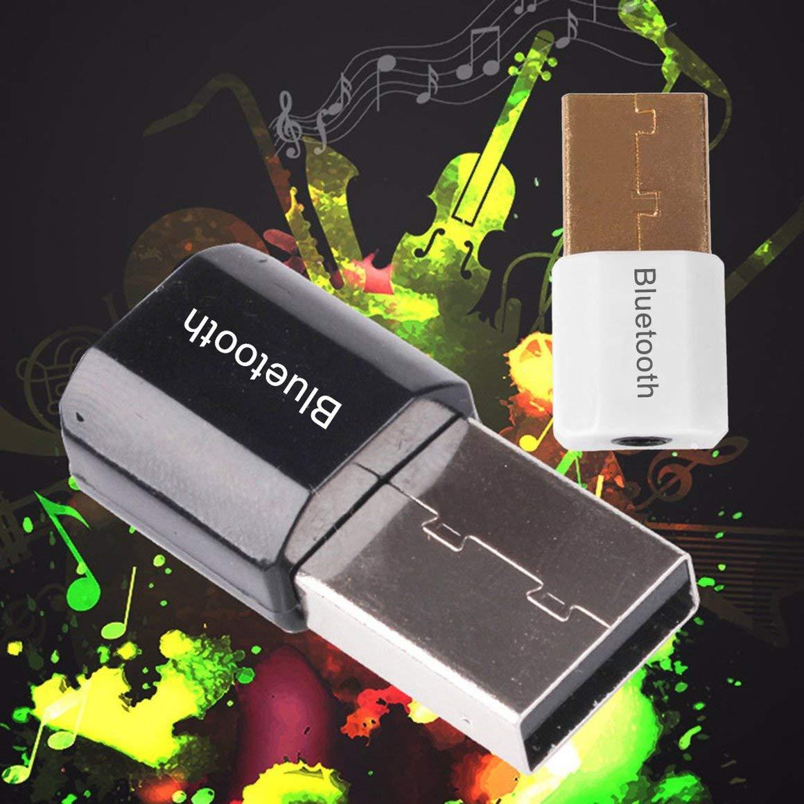 nero Funnyrunstore Mini USB Bluetooth Adapter V4.0 AUX Bluetooth Dongle Musica Ricevitore audio per PC Ricevitore adattatore del computer