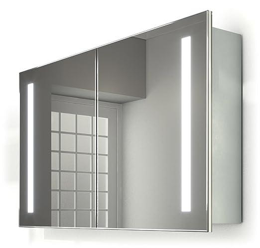 Illuminated Mirrors Vida Schiebetür Spiegel Badezimmer Schrank mit ...