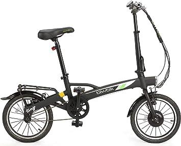 BIWBIK Bicicleta ELECTRICA Plegable Tiny DE 12KG DE Peso (Negro ...