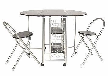 Ts Ideen 3er Set Essgruppe Esstisch Küchen Tisch Frühstückstisch MDF Tisch  79 X 110
