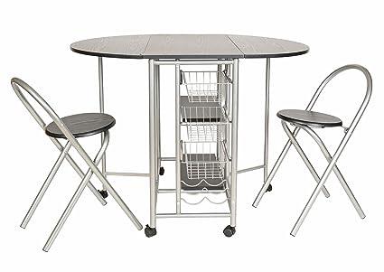 Ts ideen set pezzi tavolo con sgabelli in alluminio e mdf