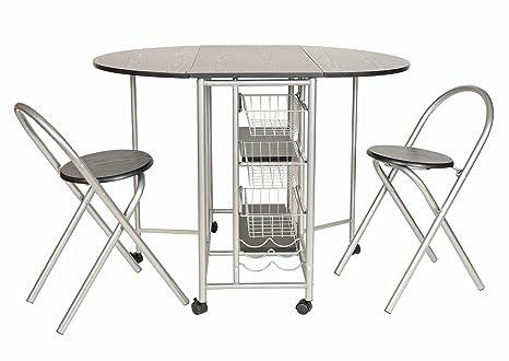 ts-ideen Juego de 3 Piezas Comedor Mesa y sillas para la Cocina Marco de