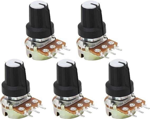 HSEAMALL Potenciómetro Potenciómetro 5Pack (B10K Ohm 3 Terminal): Amazon.es: Electrónica