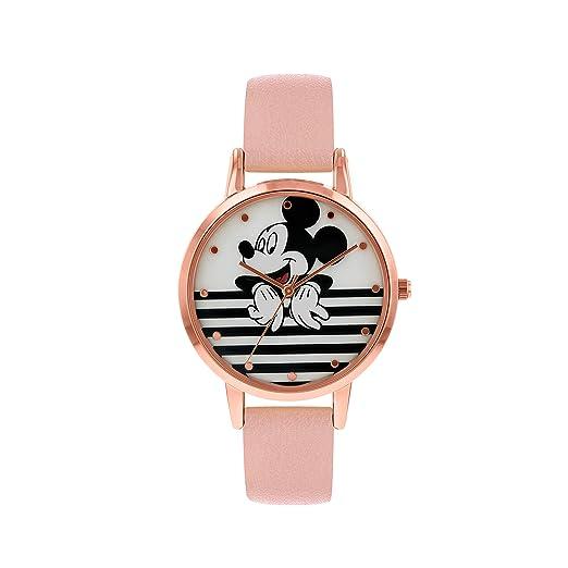 Cuir Classique Montre Avec Quartz Bracelet Disney Analogique En Femme Mk5087 VpjqSzMLUG