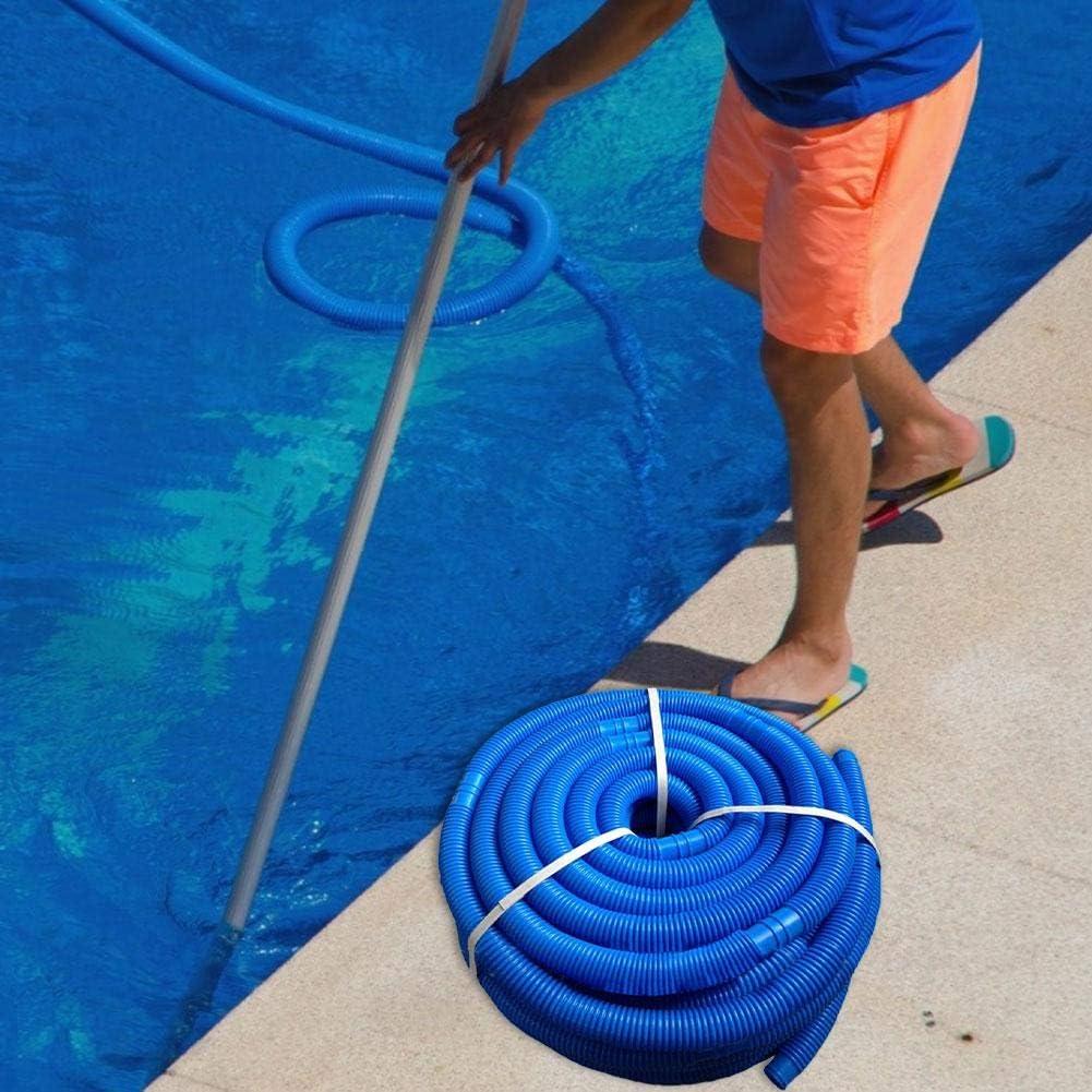 Wopohy Manguera de Piscina Manguera de nataci/ón 32 mm m/ás Flexible para limpiafondos Longitud Total 5 m