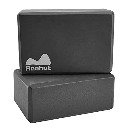 REEHUT Yoga Blocks 1-PC/ 2-PC, High Density EVA Foam Blocks to Support and Deepen Poses, Improve Strength and Aid Balance and Flexibility - ...