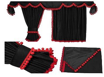 Adomo LKW Gardinen passend zur R-Reihe Topline und Highline in schwarz rot