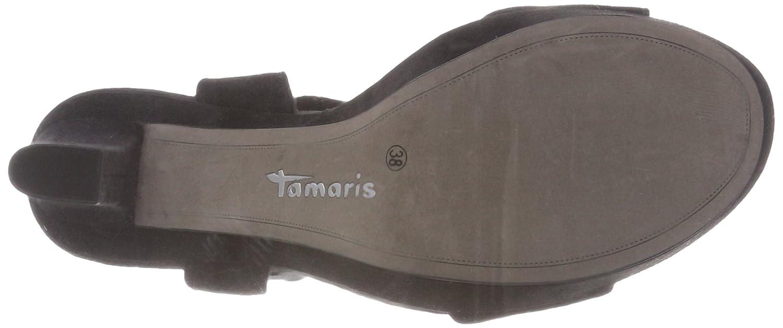Tamaris 28398 Damen 28398 Tamaris Slingback Sandalen Schwarz (schwarz) 8062e8