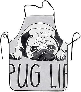 KLYDH Pug Life Aprons Printed Apron for Gardening BBQ Men