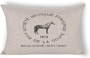 By Unbranded French Farmhouse Decor Farmhouse Style Geometric Pillow Case Lumbar Pillowcase 12×20 inch