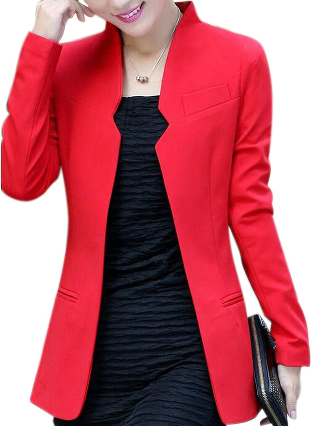 Aisuper Womens Long Sleeve Cardigan Blazer Jacket Suits Coat Outerwear