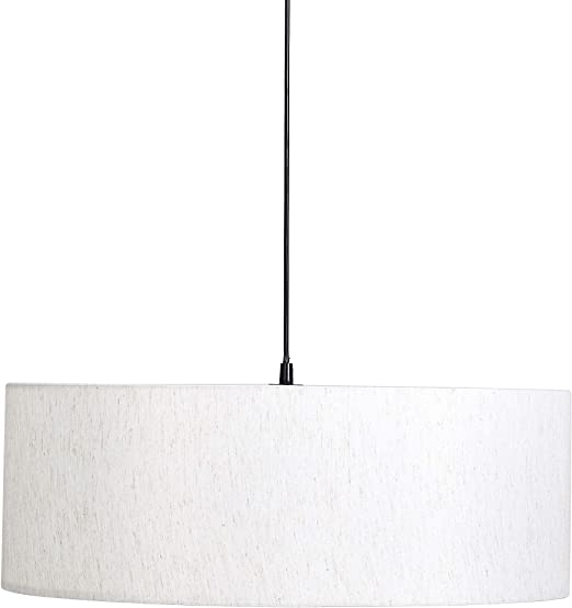 Umi. by Amazon - Lámpara de techo, pantalla de tela, cilíndrica, 60,2 cm, diámetro 101,6 cm: Amazon.es: Iluminación