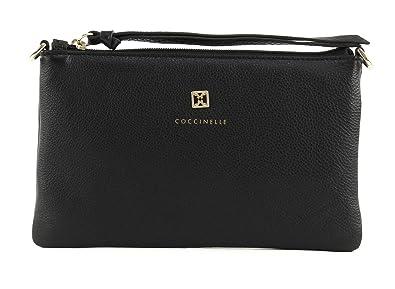7a639030e6f9e COCCINELLE Pelle Vitello Clutch Nero  Amazon.de  Schuhe   Handtaschen