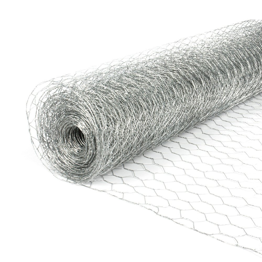 Chicken Wire Galvanised Finish 25mm Mesh. 0.6m x 10m Long Fleximas N3005E