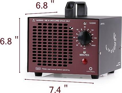 Airthereal Generador de ozono comercial generador 5000 mg ozono ...