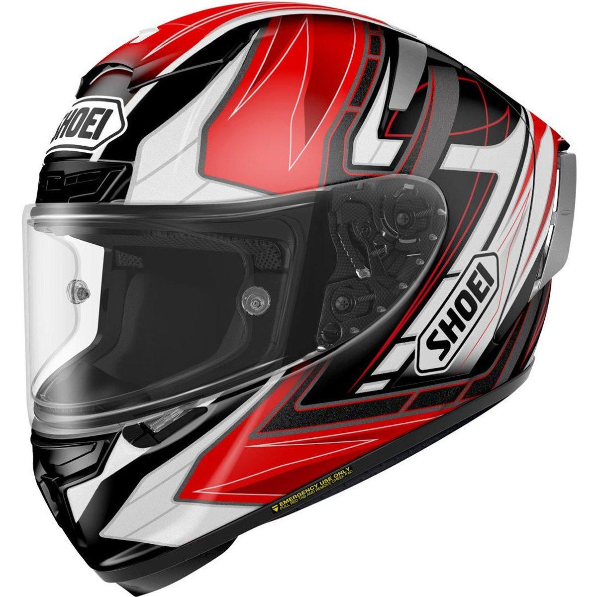 Shoei Assail X-14 Sports Bike Racing Motorcycle Helmet - TC-1 / Large
