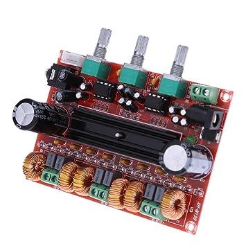 WINGONEER TPA3116D2 2x50W + 100W 2.1 canales Digital subwoofer amplificador de potencia Junta DC12V-24V