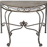 Fair-shopping table d'appoint en métal 94036 90 cm de forme semi-circulaire