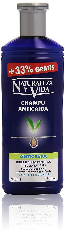 Naturaleza y Vida - Champú anticaída - Nutre el cuero cabelludo y regula la caspa - 400 ml: Amazon.es: Belleza