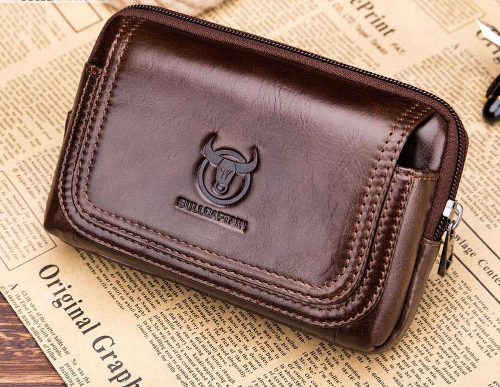 Wear Gürtel Cross-Gürteltasche Herren Multifunktions-Leder-Id-Karte Handytasche Große Kapazität Mini Brieftasche , braun