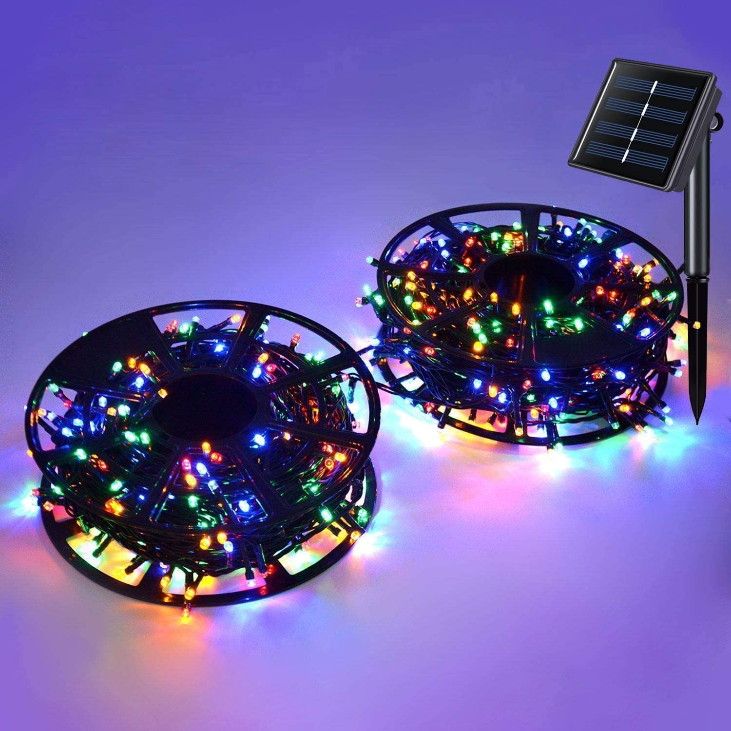 JMEXSUSS Solar String Light 600LED 206.7ft 8 Modes Solar Christmas Lights Waterproof Outdoor Fairy String Lights for Gardens, Homes, Wedding, Party, Christmas Tree,Xams,Outdoors (600LED, Multicolor)