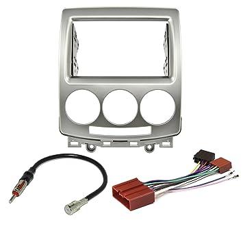 Kit de embellecedor de radio para coche, estructura de radio de doble DIN y adaptador de antena de radio: Amazon.es: Coche y moto