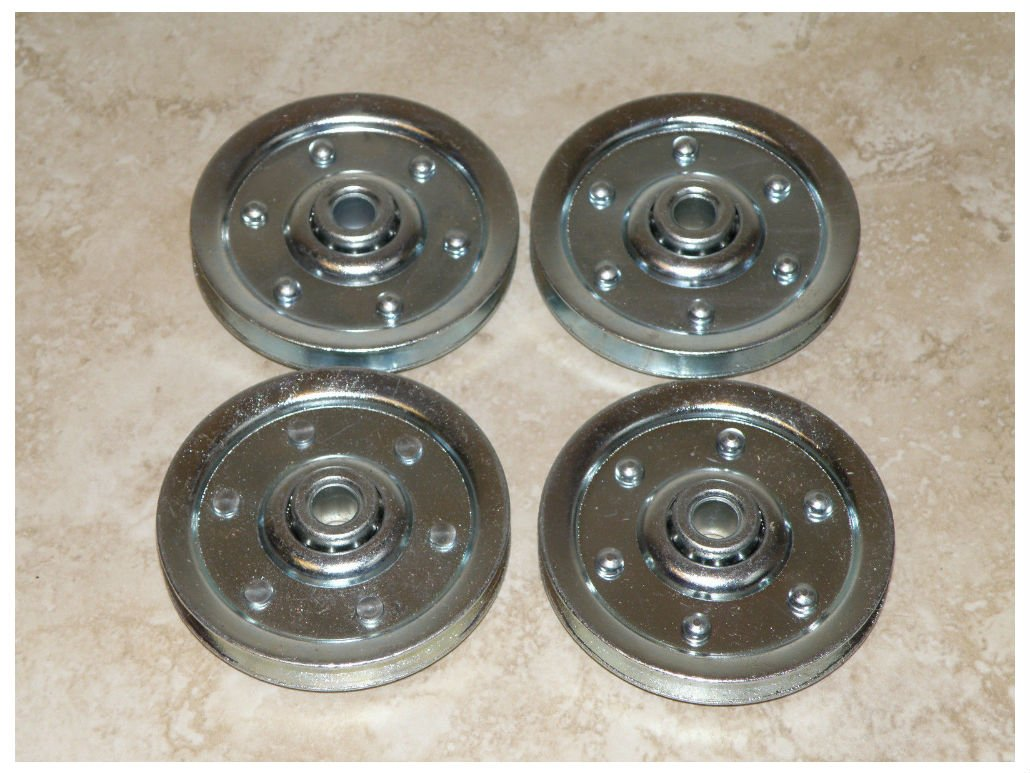 Garage Door 3'' Sheave Pulleys (4 pack) - Extension Spring Pulley Wheel NEW!