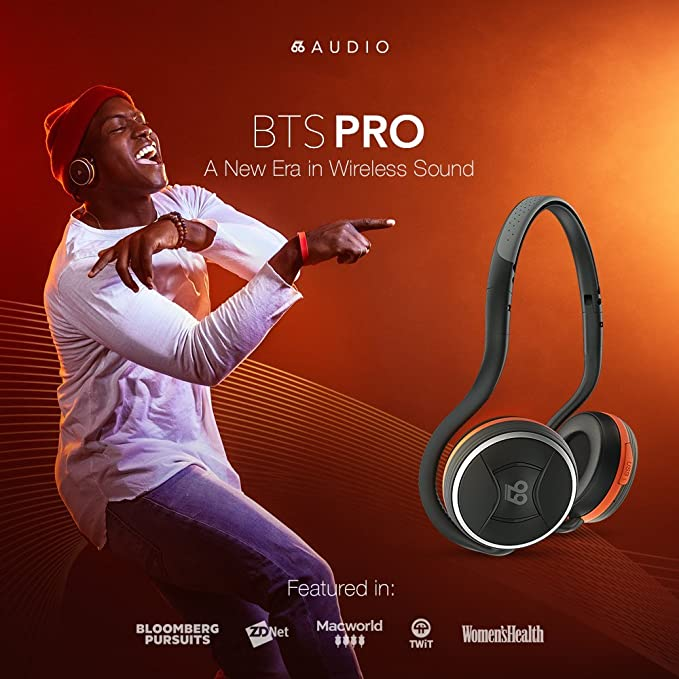 Amazon.com  66 Audio - BTS PRO - BT Wireless Sports Headphones - 40 Hours  Playback. 100 Feet Wireless Range. HD Stereo Sound  Electronics 750ba98fcb
