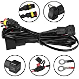 complete spot light & fog light motorbike motorcycle wiring loom harness  kit with on/off