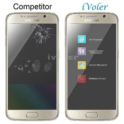iVoler Protector de Pantalla Compatible con Samsung Galaxy S6, Cristal Vidrio Templado Premium [Dureza 9H] [Anti-Arañazos] [Sin Burbujas]: Amazon.es: ...