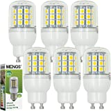 6X MENGS® GU10 Lampe à LED 5W AC 220-240V Blanc Chaud 3000K 30x5050 SMD