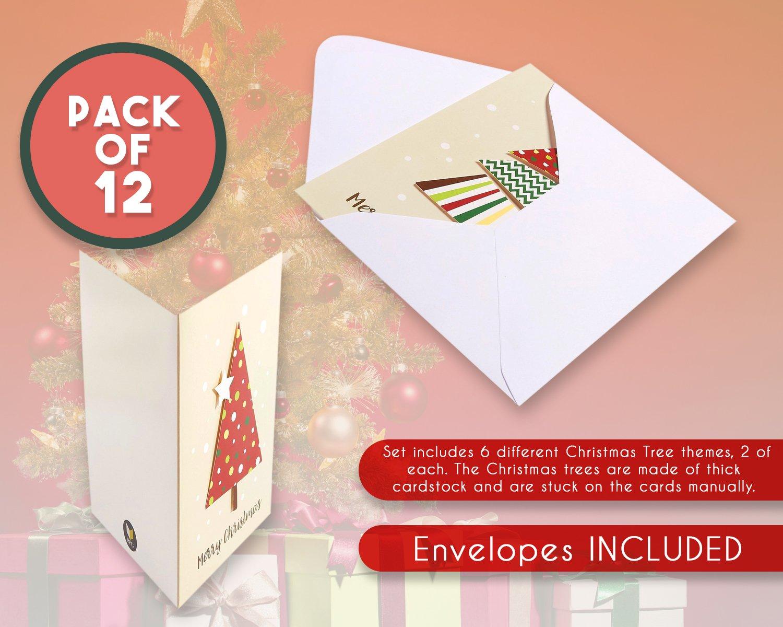 Amazon Set Of 12 Merry Christmas Greetings Cards Handmade