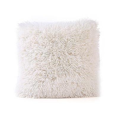 Fossrn unda Cojines 45x45 Fundas Cojines 45x45 Felpa Funda de almohada para Sofa Jardin Cama Decorativo