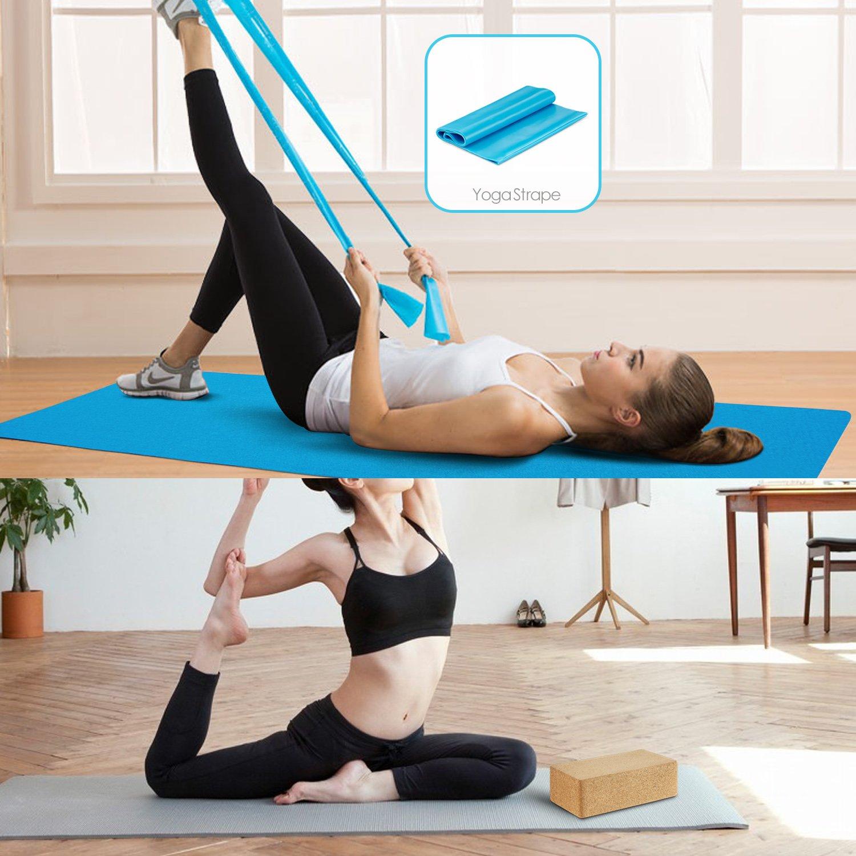 SKL Cork Yoga Block 2 Pack Plus Correa Corcho Ladrillos de yoga Ecológico Natural 9