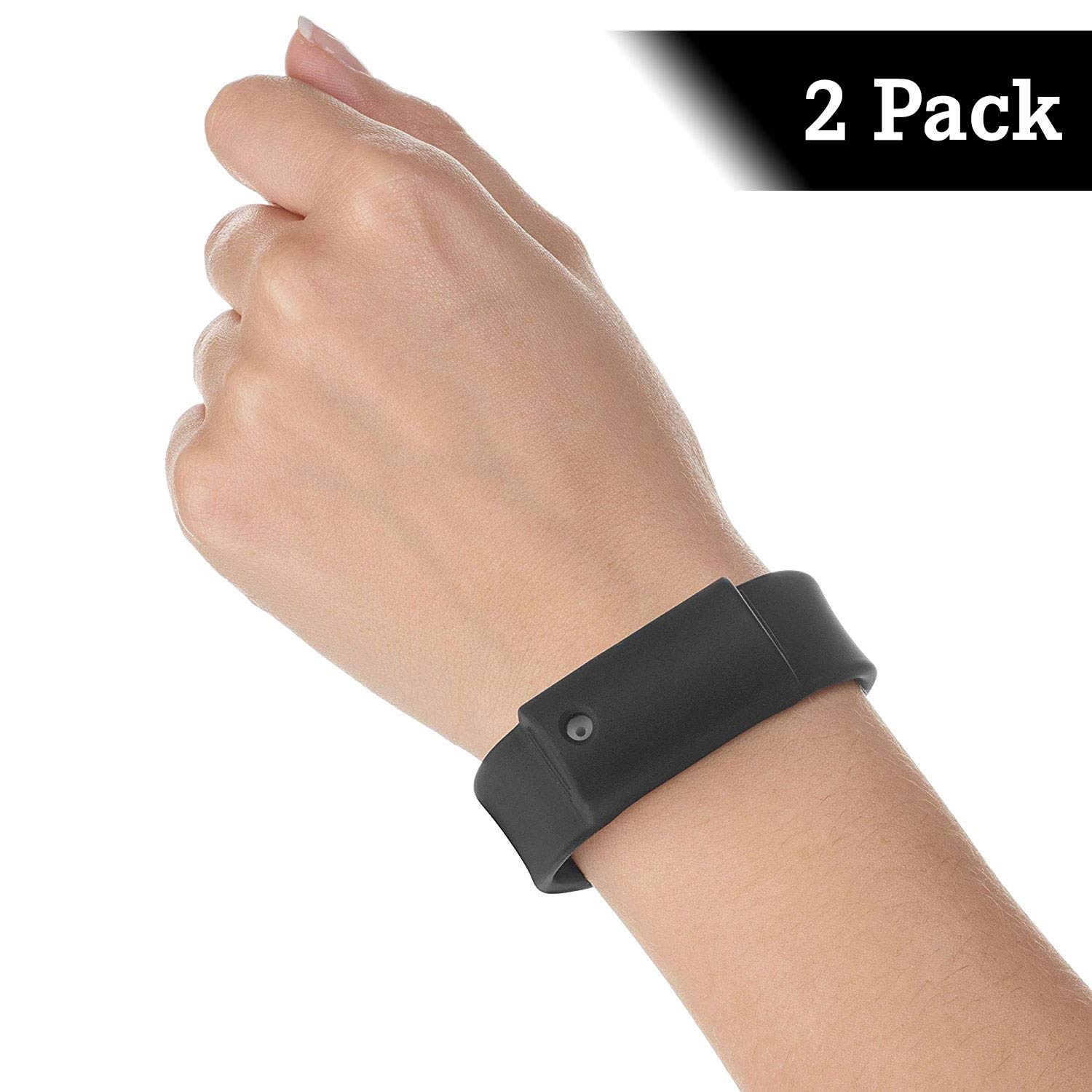 Little Viper Pepper Spray Bracelet – Maximum Strength, 3-6 Bursts & up to 3-Foot Range (1 oz.), Not for Purchase in MA or NY (2 Pack, Black)