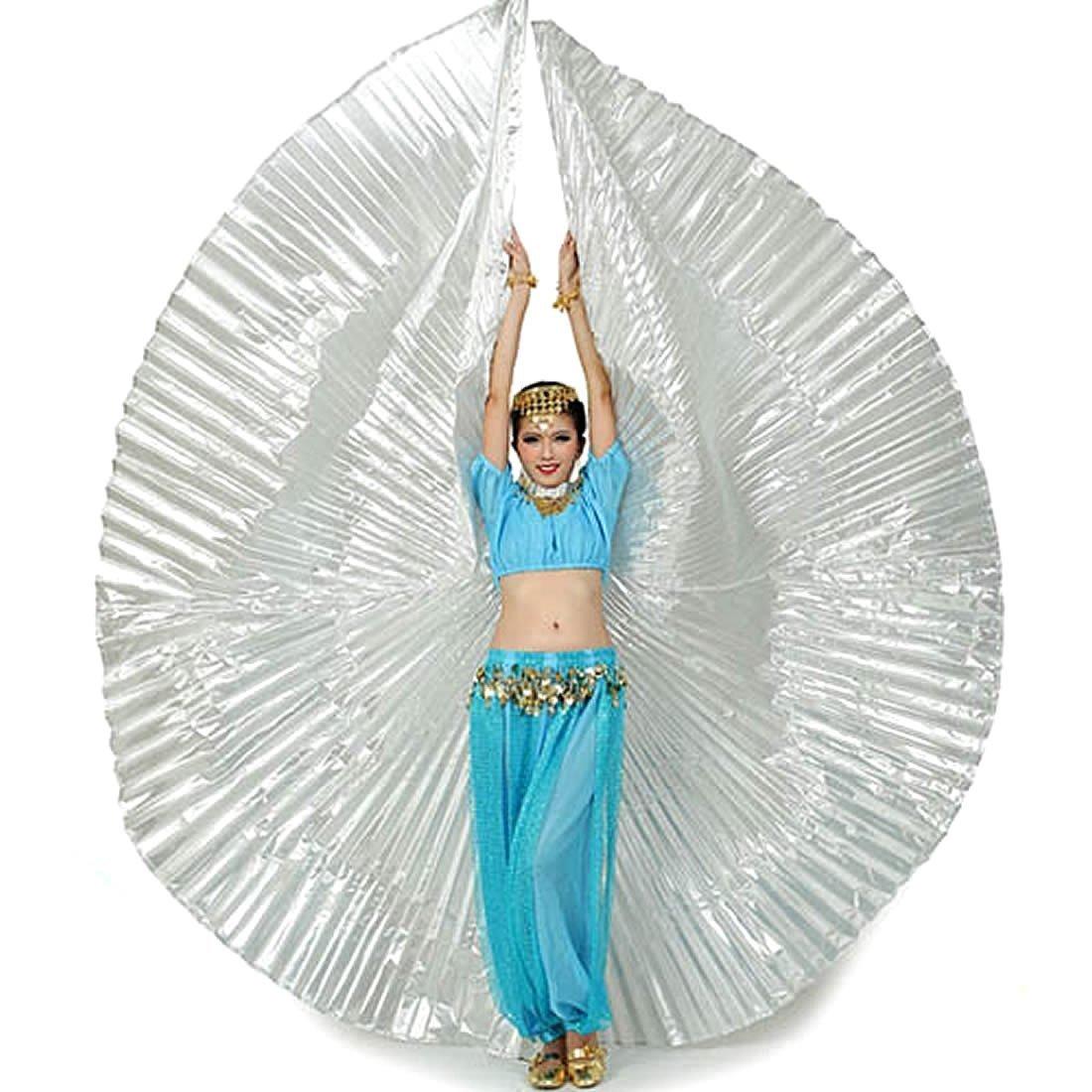 Calcifer Nuevo Egipcio Egipto disfraz de alas de Isis Alas de danza del vientre regalo para gran fiesta Navidad Multicolor