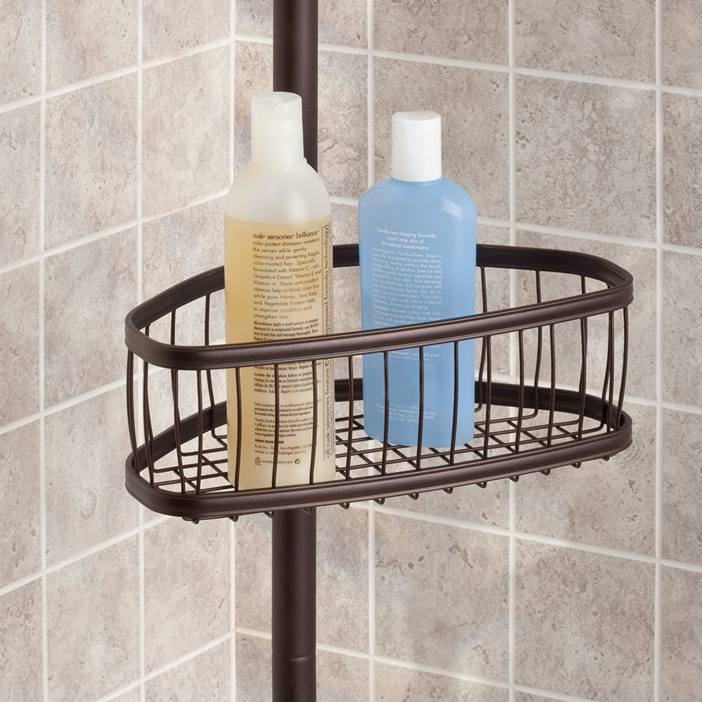InterDesign York Constant Tension Shower Caddy – Bathroom Storage Shelves for Shampoo, Conditioner, Soap and Razors, Bronze by InterDesign (Image #7)