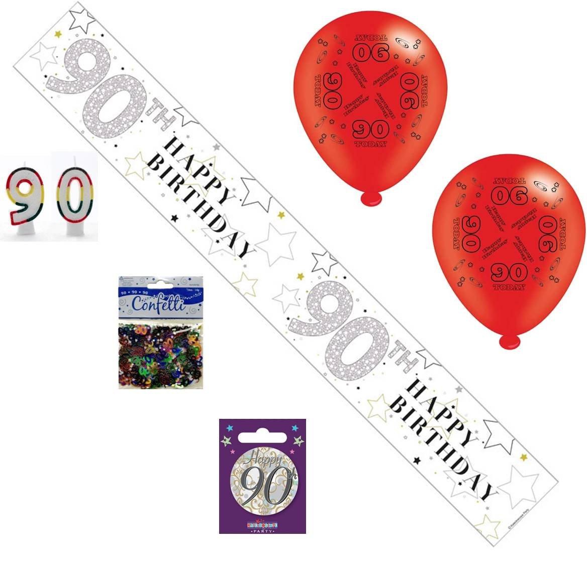 9ft Happy 8th Birthday Blue Sparkle Prismatic Party Foil Banner Decoration