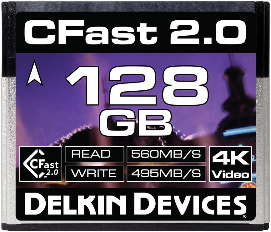 Delkin 128GB Cinema CFast 2.0 Memory Card (DDCFST560128)