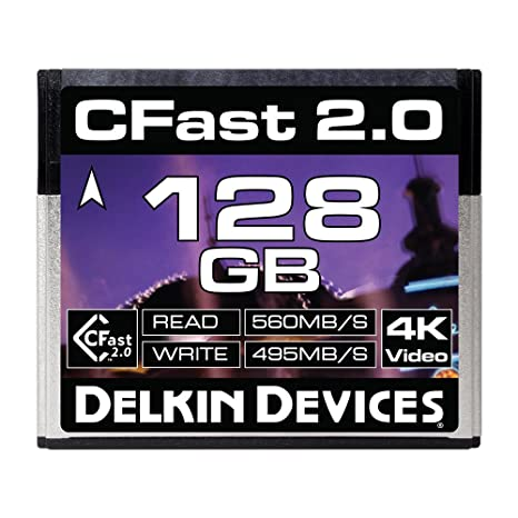 Delkin 128GB Cinema CFast 2.0 Memory Card (DDCFST560128)