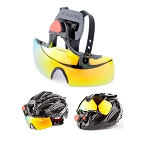 5ecc01eb3874 Amazon.com  Helmet Mounted Goggles for Cycling