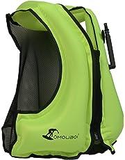 OMOUBOI Snorkel Vest Unisex Snorkeling Swimming Float Vest Inflatable Kayak Canoeing Safty Jacket for Adult Women Men
