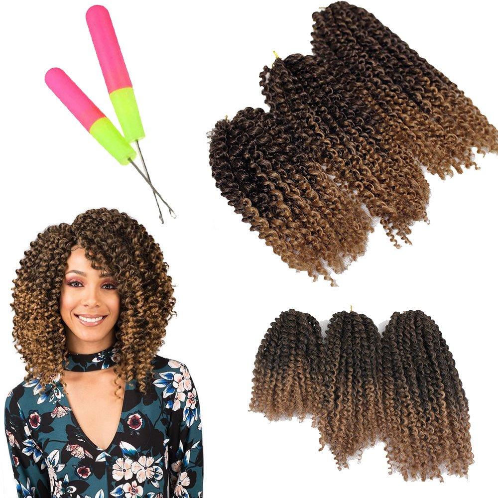 Amazon 8 10 12 Inch 3pcpack Kinky Curly Twist Crochet Braids