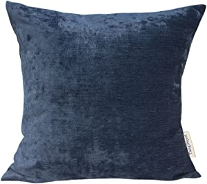 TangDepot Handmade Solid Chenille Decorative Throw Pillow Covers, Pillow Shams, Square Pillow Covers, Cushion Covers, Pillowcase - (20