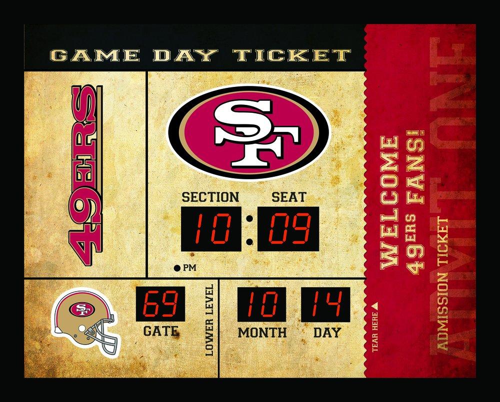 Team Sports America San Francisco 49ers Bluetooth Scoreboard Wall Clock by Team Sports America