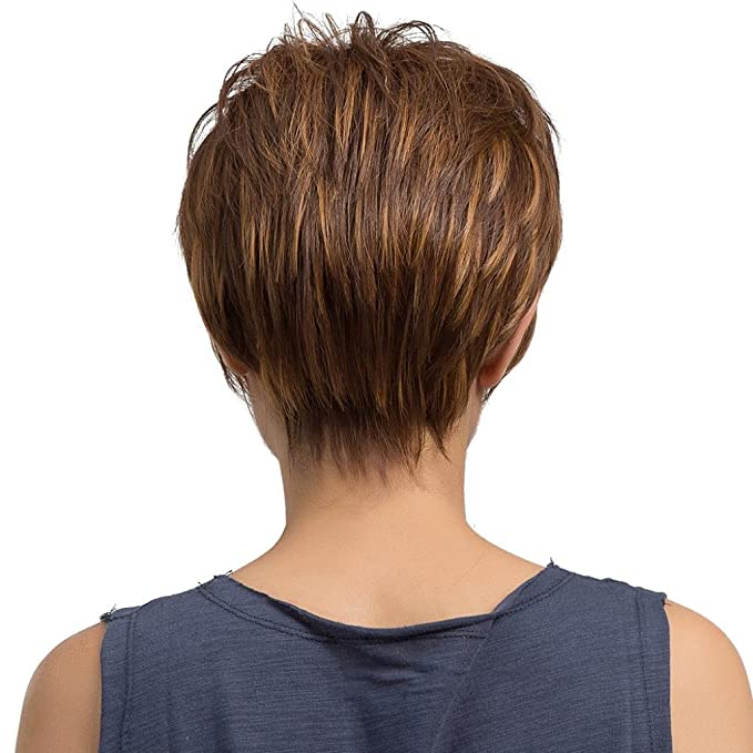 Amazon.com: Huphoon Natural Realistic Light Brown Straight Short Hair Wigs Unisex Fashion Cap Perfect Gift for Girlfriend: Office Products