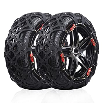 Snow Chains For Tires >> Amazon Com Rupse Easy To Install Snow Tire Chains Anti Slip Chain