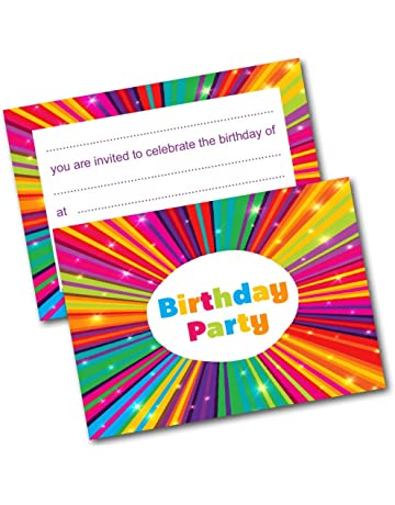 NEW Pack Of 20 Childrens Birthday Party Invitations With Envelopes Kids Invites