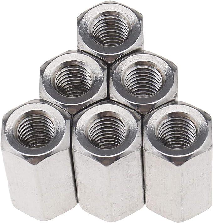 extensi/ón recta hexagonal M8 x 13 x 24 mm acero inoxidable 304 Juego de 10 conectores de rosca