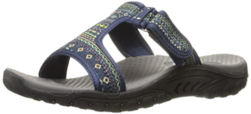 afbaad436af7 Image Unavailable. Image not available for. Colour  Skechers Women s Reggae  Ethnic Vibes Slide Sandal